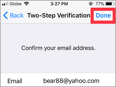 WhatsApp Settings Account Two Step Verification Enable 6 digit PIN Confirm NEXT button DONE