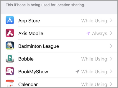 iPhone location Services Apps
