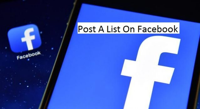 how to post a list on facebook