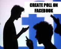 Create a poll on Facebook