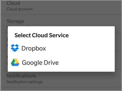 Android Auto Call Recorder Select cloud service