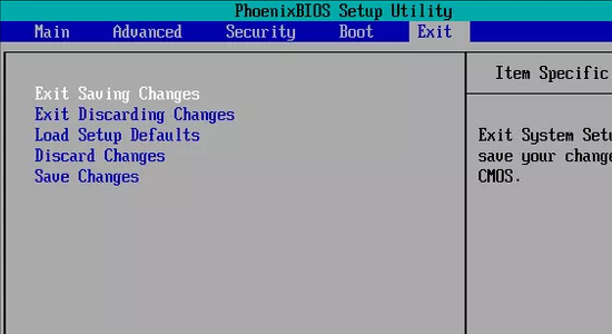 Computer BIOS Settings