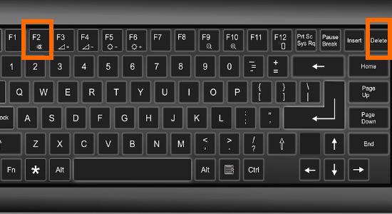 Computer Keyboard F2 And Delete Buttons