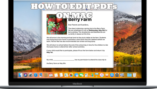 How to eDIT PDFs on Mac