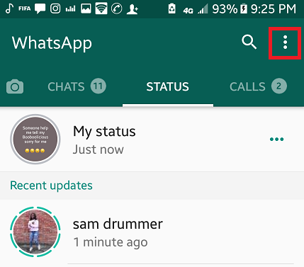 set status privacy on whatsapp