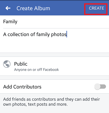 Create An Album On Facebook