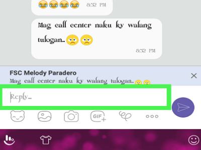 Viber Name of Friend Message Reply Create