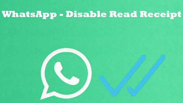 How To Turn Off Read Receipts Blue Ticks On Whatsapp