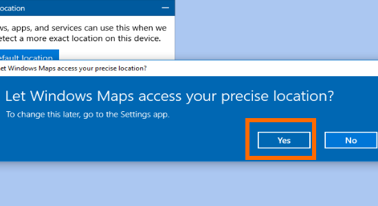 Windows 10 Access Your Location