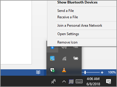 Windows 10 Notification Bar
