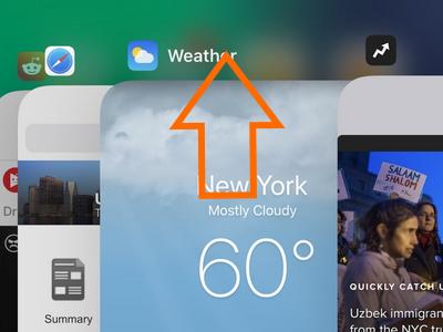 iPhone Recently Used App Swipe up