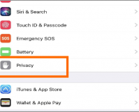 iPhone Settings Privacy