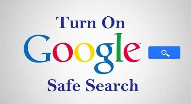 turn on google safe search