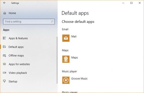 How to change default applications on Windows 10