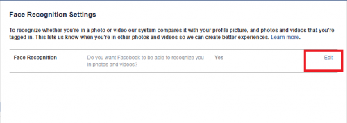 Enable Face Recognition On Facebook