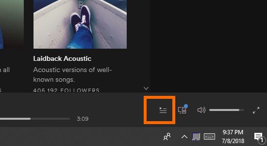Spotify User Interface Hamburger icon Play History