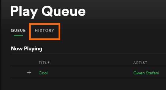 Spotify User Interface Hamburger icon Play Queue