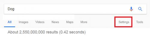 Change Google Search Language