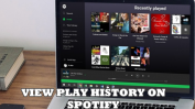 VIEW SPOTIFY PLAY HISTORY