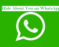 Hide About You on WhatsApp