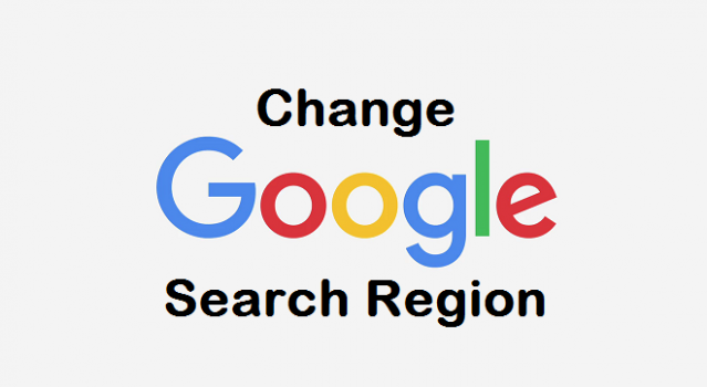 Change Google Search region
