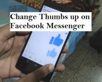 change thumbs up on Facebook messenger