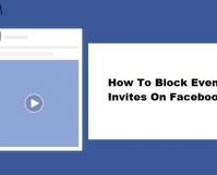 Block Event Invites On Facebook
