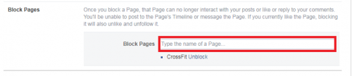Block A Page On Facebook