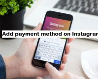 add payment method on Instagram