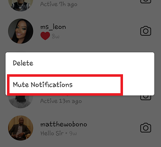 delete messages on instagram