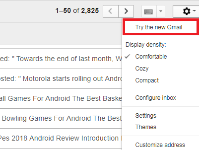 Switch To The New Gmail