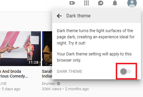 How to Enable Youtube Dark Theme
