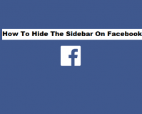 hide the sidebar on Facebook