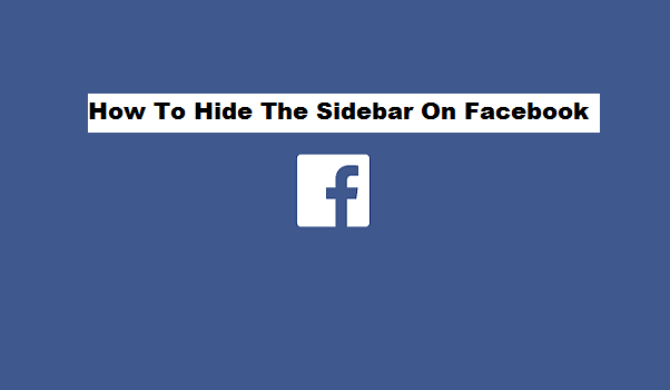 hide the sidebar on Facebook