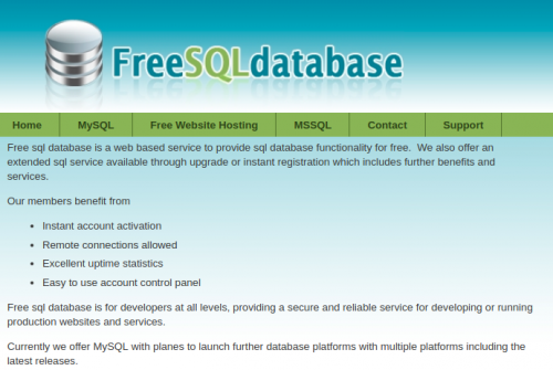 free mysql database with remote access