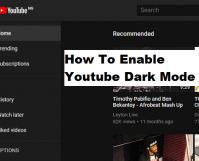 How to Enable Youtube Dark Theme