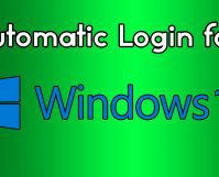 automatic login in Windows 10