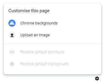 how to customize google chrome background