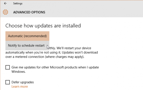 enable Windows automatic update