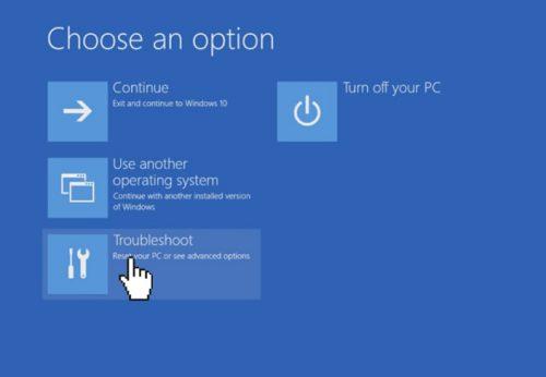 enabling auto repair Windows 10