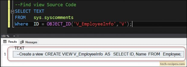 How To Create Encrypted View In SQL Server