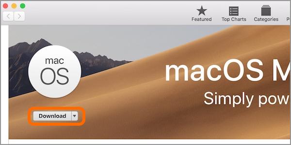 Mac Apple Menu App Store Feature macOS Mojave Download