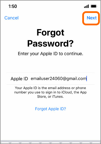 how can i reset my apple id password on my iphone