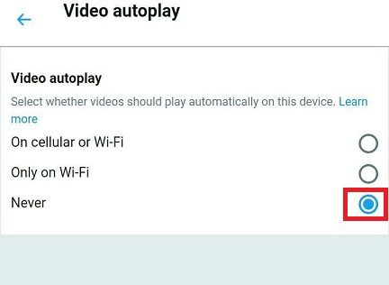 Stop Video Autoplay On Twitter