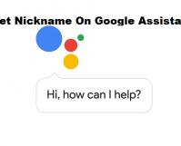 Set Nickname On Google Assistant