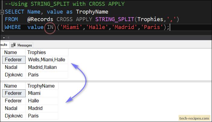 How To Split Delimited String In SQL Server Using STRING_SPLIT