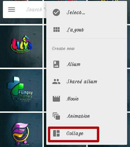 Create Collage On Google Photos