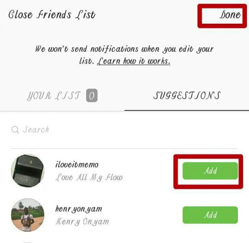 How To Add Friends To Instagram Close Friends List