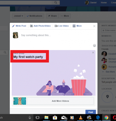 Create A Watch Party On Facebook