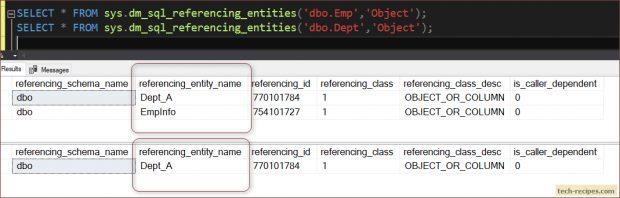 bject Dependencies In SQL Server